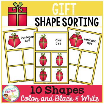 Shape Sorting Mats: Gift Christmas