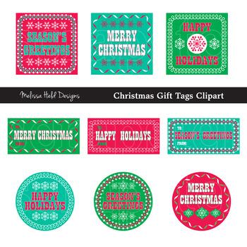 Christmas Gift Tag Clipart