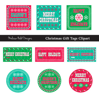 Christmas Gift Tag Clipart