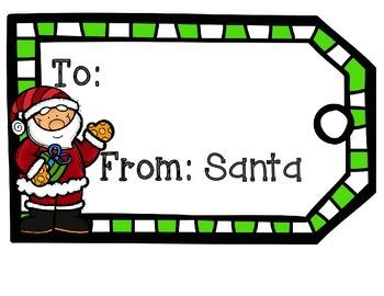 Christmas Gift Tag FREEBIE