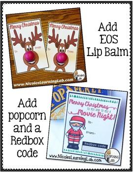Christmas Gift Tag FREEBIE - Redbox Movie Night