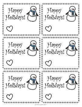 Christmas Gift Tag Printable- From Teacher to Students
