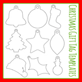 Christmas Gift Tag Templates Commercial Use Clip Art Set