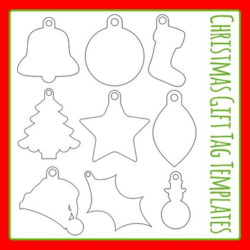 Christmas Gift Tags Template.Christmas Gift Tag Templates Commercial Use Clip Art Set