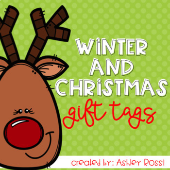 Christmas Gift Tags & Thank You Notes For Teachers and Students