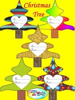 Christmas Activities - Gift Tags - Christmas  Tree - Writi