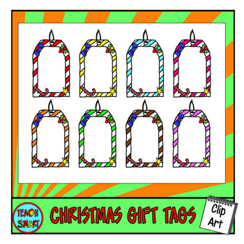 Christmas Gift Tags Clip Art