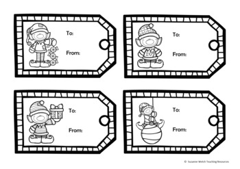 Christmas Gift Tags – Black and White Templates