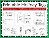 Christmas Gift Tags - Christmas Tags - Holiday Tags