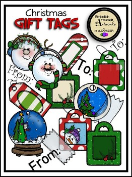 Christmas Gift Tags Clipart