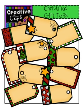 Christmas Clipart Gift Tags {Creative Clips Clipart}