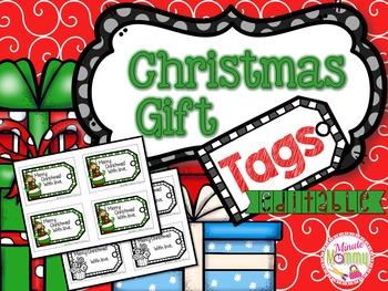 Christmas Gift Tags {EDITABLE}