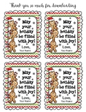 Holiday Gift Tags Editable Version
