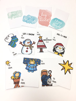 Christmas Gift Tags, For Students and Staff