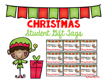 """Christmas Gift Tags - For a """"Deer"""" Student!"""