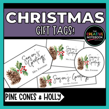 Christmas Gift Tags | Holiday Gift Tags | Editable Sender!