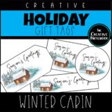 Christmas Gift Tags | Winter Cabin | Holiday Gift Tags | Editable Sender!