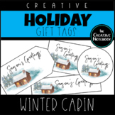 Christmas Gift Tags | Winter Cabin | Holiday Gift Tags | Editable Sender!