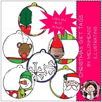 Christmas Gift Tags clip art - Mini - Melonheadz Clipart