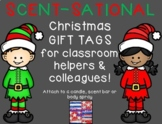 Christmas Gift Tags for Classroom Helpers and Colleagues