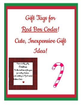 graphic relating to Redbox Printable Tags named Redbox Present Tag Worksheets Instruction Supplies TpT