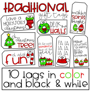 Christmas Gift Tags for Students and Teachers