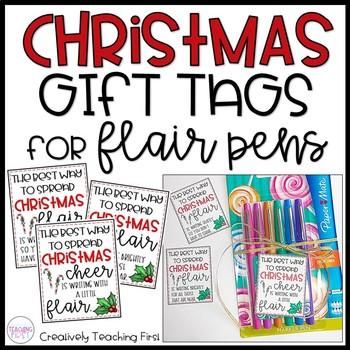 Christmas Gift Tags for Teachers - Flair Pens