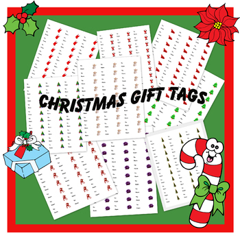Christmas Gift Tags (30 per sheet) Avery labels #5160 (9 styles)