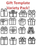 Christmas Gift Templates Christmas Gift Coloring Page Christmas Present Template