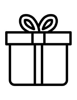 Christmas Gift Templates Christmas Gift Coloring Page ...