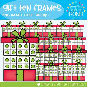 Christmas Gift Ten and Twenty Frame Clipart