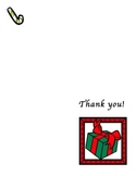 Christmas Gift Thank You Card