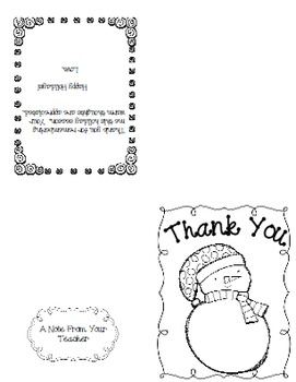 Christmas Gift Thank You Note Freebie By Nicole Shelby Tpt