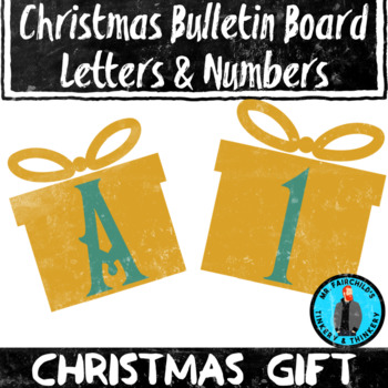 Christmas Gift Theme Bulletin Board Letters/Numbers Holiday Theme Clip Art