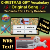 Christmas Gift Vocab Song   Boom Cards   Video   ESL   Wit