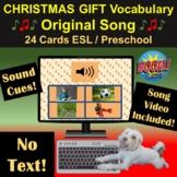 Christmas Gift Vocabulary   Original Song   Boom Cards   V
