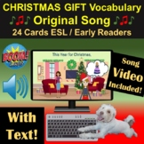 Christmas Gift Vocabulary   Song   Boom Cards   Video   ES