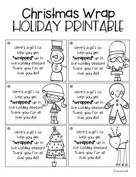 Christmas Gift Wrap Holiday Printable