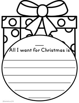 Christmas Gift Writing Craft {Easy and Differentiated}
