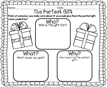 Christmas Gift Writing Craftivity- The Perfect Gift