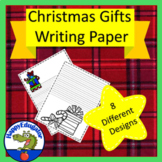 Christmas Gift  Writing Paper - Lined Paper - Christmas Present Theme