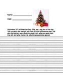 Christmas Gift Writing Prompt