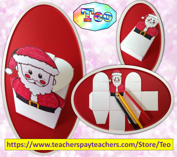 Christmas - Gift carton Santa Claus  - Craft