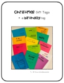 Christmas Gift tags and Birthday gift tag for students, teachers & coworkers