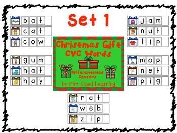 Christmas Gifts CVC Words