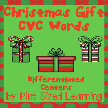 Christmas Gifts CVC Words