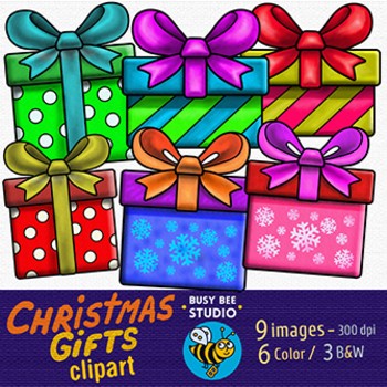Christmas Gift Clipart.Christmas Gifts Clip Art