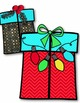 Christmas Gifts Clip Art ~ Holiday Presents ~ 9 png ~ 300 dpi Graphics ~ Chevron