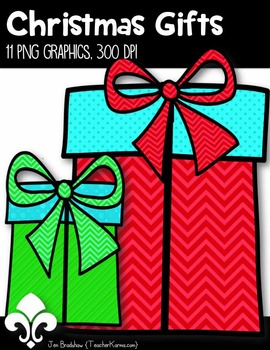 Christmas Gifts Clip Art ~ Holiday Presents ~ 9 png ~ 300