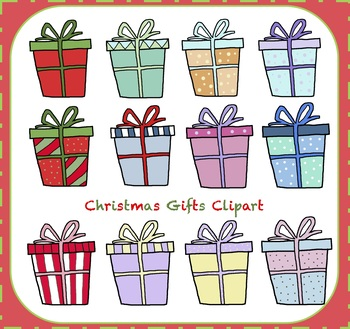 Christmas Gifts Clipart / Gifts Clipart {Christmas Clipart}